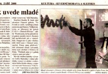 Macháček Jiří: Barák uvede mladé, in MF Dnes, 26. 9. 2000