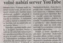 (mao): Film, co předběhl Český sen, volně nabízí server YouTUbe, in MF Dnes Regionální mutace - severni Morava a Slezsko, 12. 3. 2008