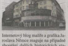 (mao): Hotel Palace jako barometr změn, in MF Dnes Regionální mutace - severni Morava a Slezsko, 28. 3. 2008