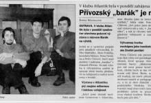 """Nevidalová Šárka: Přívozský """"Barák"""" je na výletě, in Svoboda, 3. 2. 1999"""