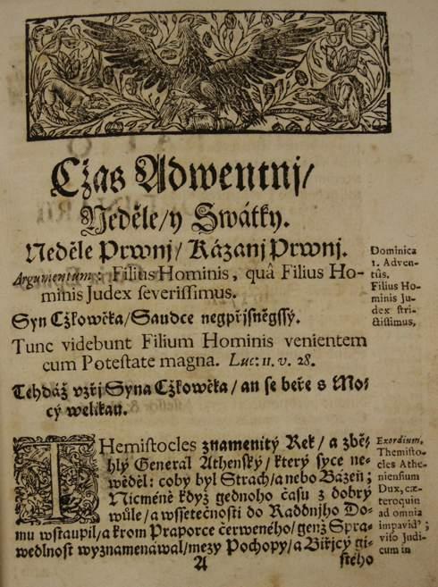 Barokní kázání Bohumíra Josefa Hynka Bilovského: Neděle druhá po Devitníku (1721)