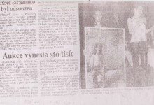 (VH): Aukce vynesla sto tisíc, Právo, 12. 11. 2001