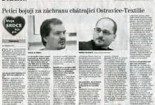 ROZHOVOR: Peticí bojují za záchranu chátrající Ostravice-Textilie / MS Deník, 4. 12. 2013