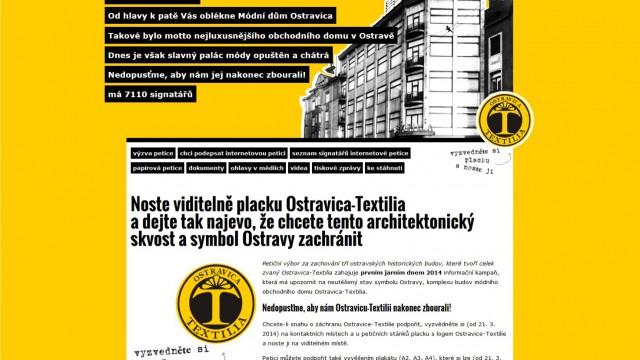Webdesign – ostravica-textilia.cz
