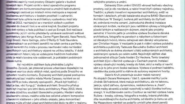 Vendula Šafářová: KRESLÍM, PROTOŽE MUSÍM PŘEMÝŠLET / ERA 21, 02, 2014