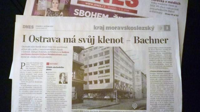 Markéta Radová: I Ostrava má svůj klenot - Bachner / MF Dnes, 5. 5. 2014