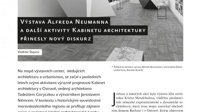 Vladimír Šlapeta: Výstava Alfreda Neumanna a další aktivity Kabinetu architektury přinesly nový diskurz / Protimluv 1–2/2015
