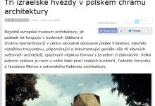 ceskatelevize.cz: Tři izraelské hvězdy v polském chrámu architektury